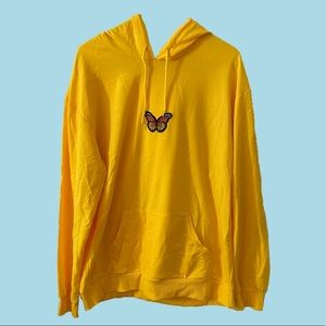 SHEIN yellow butterfly hoodie
